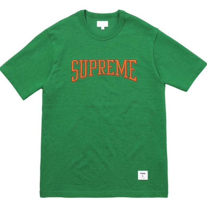 Supreme Dotted Arc Top Tee Heather Kelly Green Size m - Short Sleeve ... c3dca015ebc