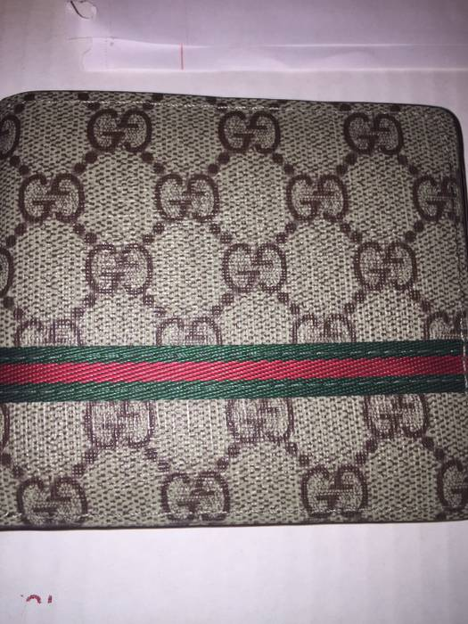 b6a6ff45b815 Gucci Web GG Supreme wallet Stripe Red And Green Vintage Size ONE SIZE - 3