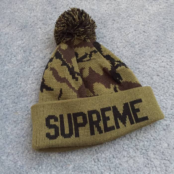 Supreme Supreme Olive Camo Beanie Size one size - Hats for Sale ... fd83fdc58