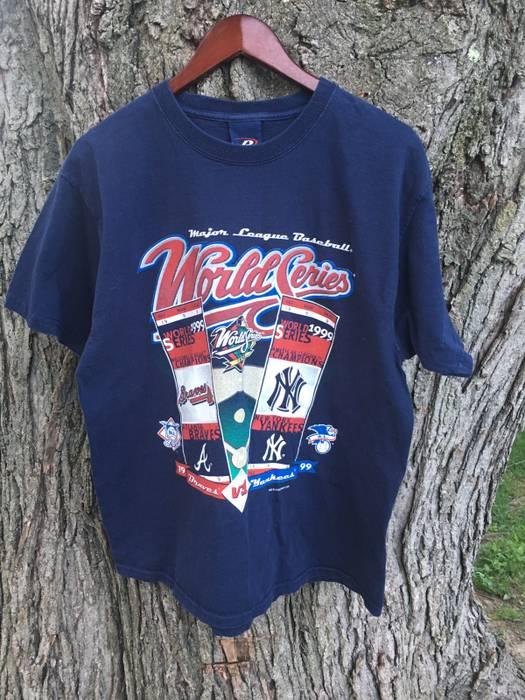 bc98afc794d8c1 Vintage Vintage 1999 NY Yankees Atlanta Braves World Series Shirt Size US L    EU 52