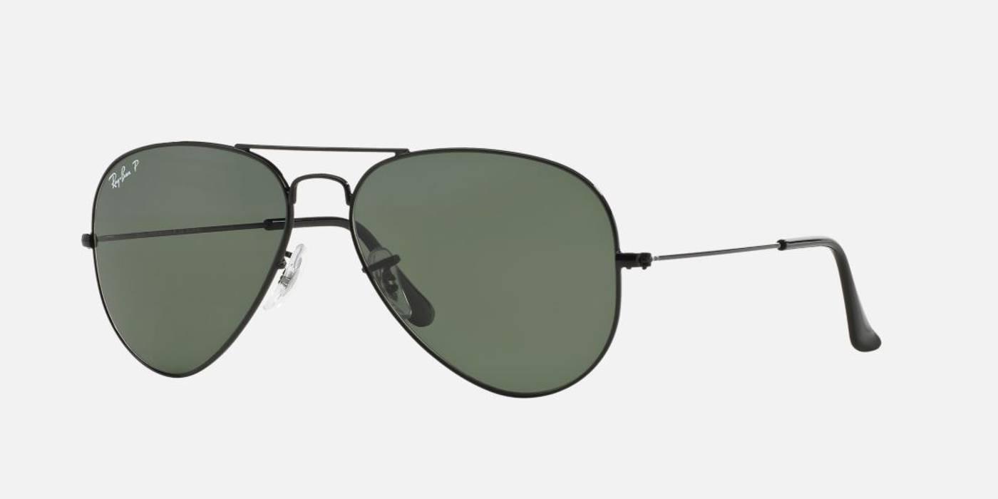 b16887cb7d0b RayBan Polarized Aviators (Black) Size one size - Sunglasses for ...