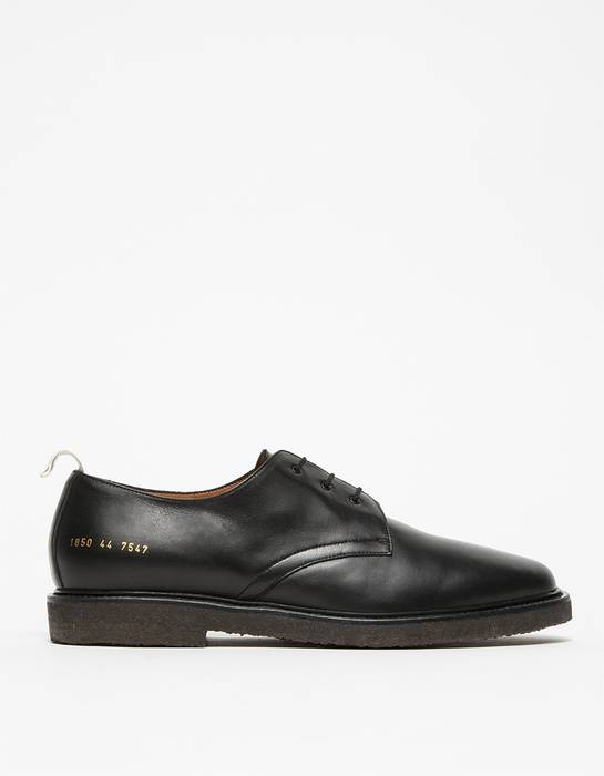 5a59c92d3416 Common Projects Cadet Derby Black Leather Size 12 - Casual Leather ...