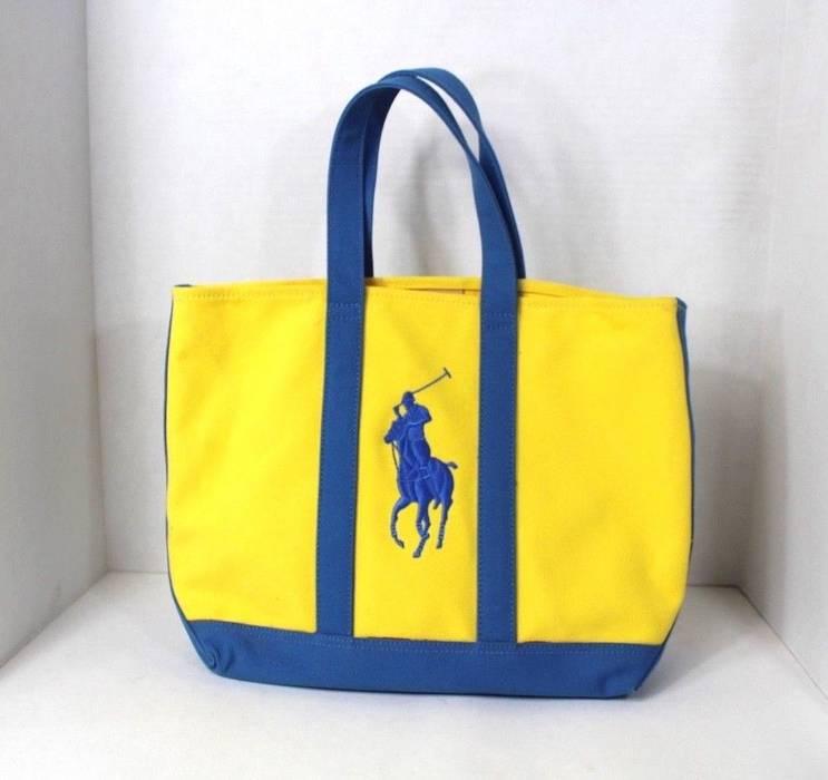 b4d5f8a55b Polo Ralph Lauren RALPH LAUREN Big Pony Logo Heavy Canvas Handled ...