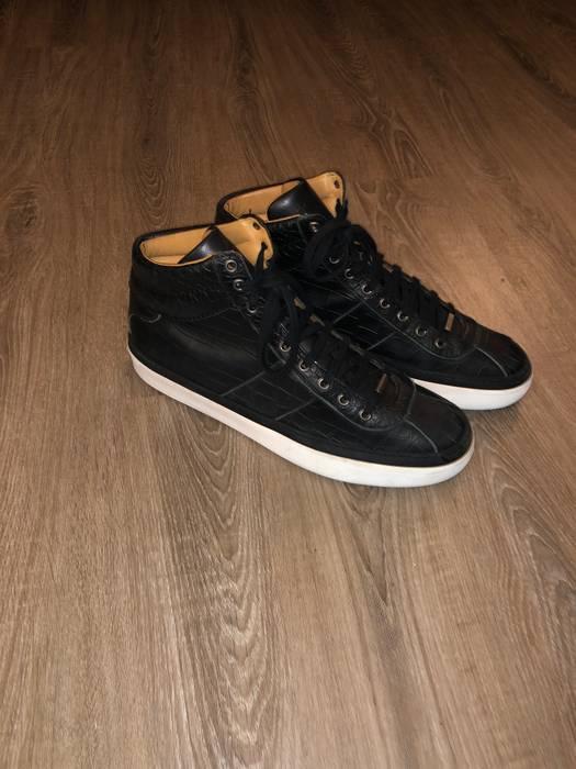 037e901b8fd7 Jimmy Choo Argyle Sneaker Black Croc Size 12 - Hi-Top Sneakers for ...