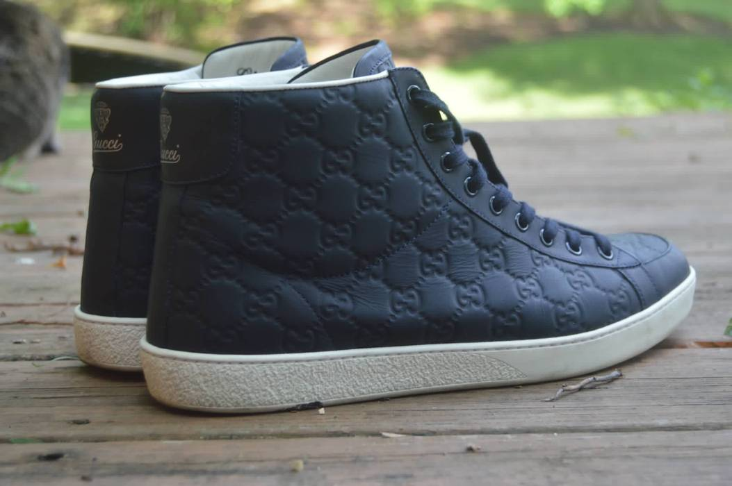 f3d85b8d832 Gucci. Gucci Limited Edition GG Supreme High Top Sneakers. Size  US 12   EU  45