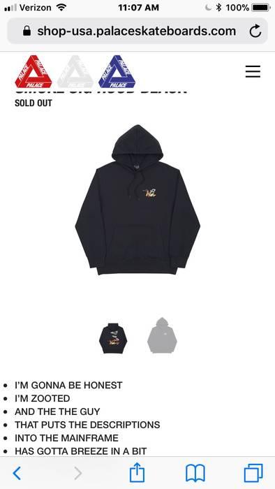 58ffc4d3b0f5 Palace Palace Smoke Sig Hoodie Black Size m - Sweatshirts   Hoodies ...
