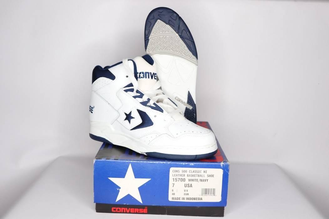 d9aec3fcbf1 Vintage Vintage 90s New Converse Mens 7 Cons 500 Classic Hi Basketball Shoes  White Navy Blue