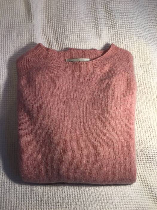 554494864a Harley Of Scotland Crewneck Pink Wool Jumper Large Size l - Sweaters ...