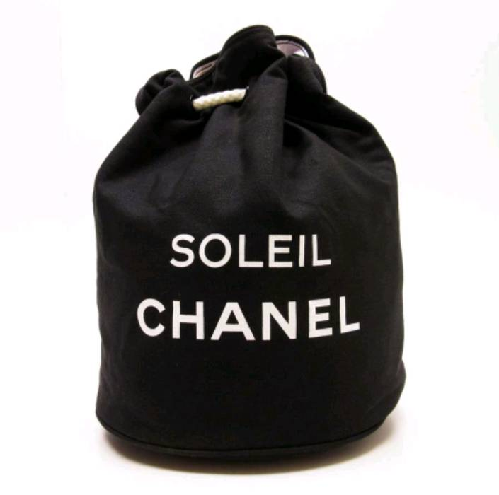 31bd806b9034 Chanel. (Last drop) Authentic Chanel Soleil Black Canvas Drawstring  Backpack Bag