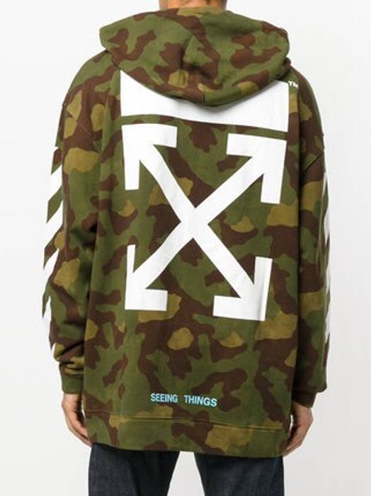 Off White Off White Seeing Things Camo Hoodie Size S Sweatshirts