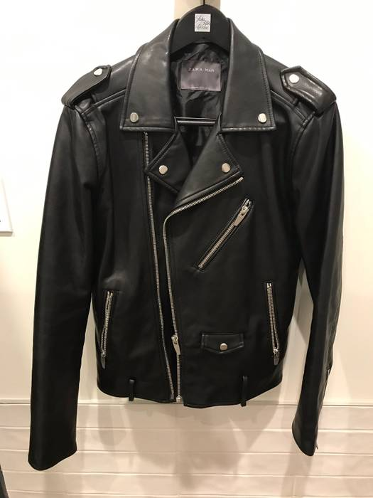 Zara Zara Man Leather Jacket Size M Leather Jackets For Sale Grailed