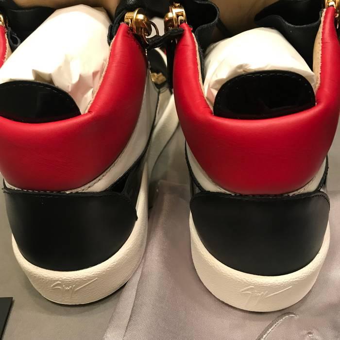 98330050915c Giuseppe Zanotti NEW Giuseppe Zanotti Black Red White Leather Double Zip  Sneakers Sz 41.5 Size US