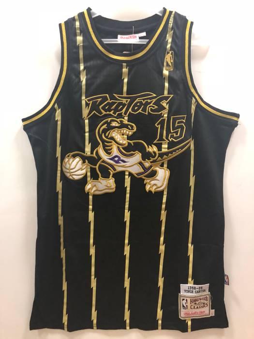 a3825db45 ... czech nba toronto raptors 15 carter intensive suture black gold  basketball jersey size us l fad6a ...