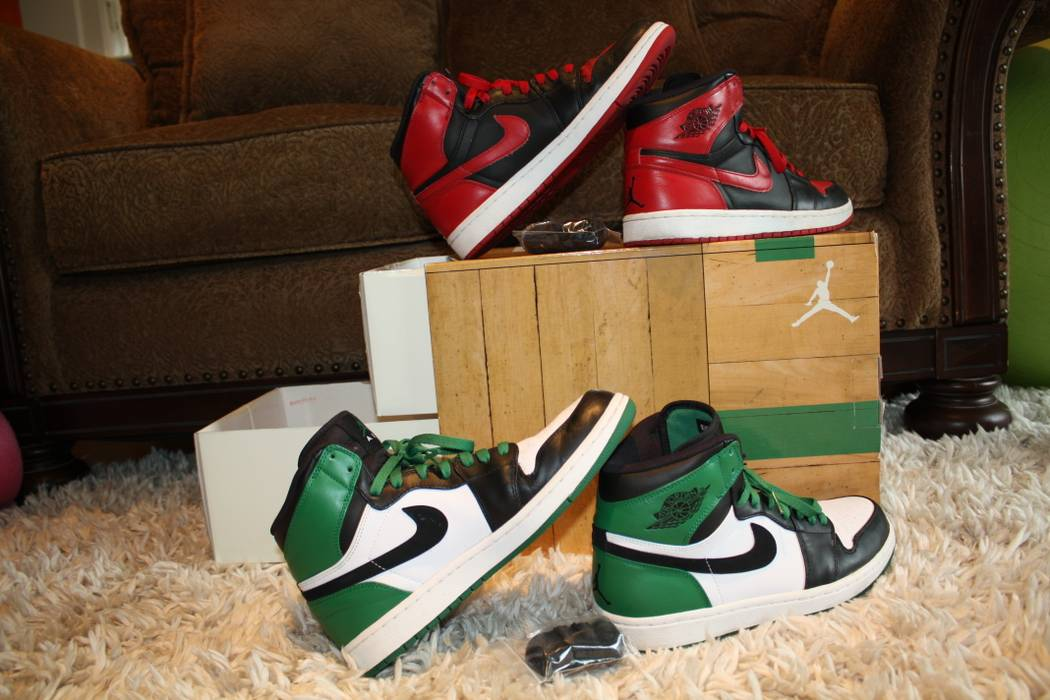 detailed look d7701 4376d Jordan Brand. 2009 Jordan 1 DMP pack Bulls Celtics ...
