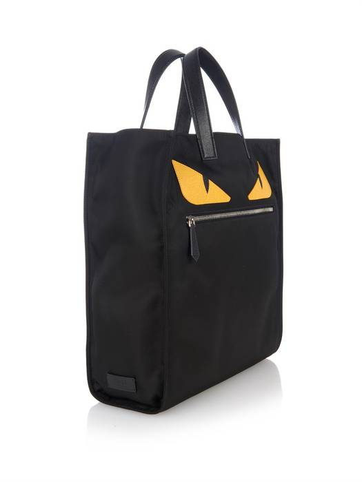 b361f963b3a9 Fendi Fendi Men s Black Monster-Eyes Nylon Tote Size one size - Bags ...