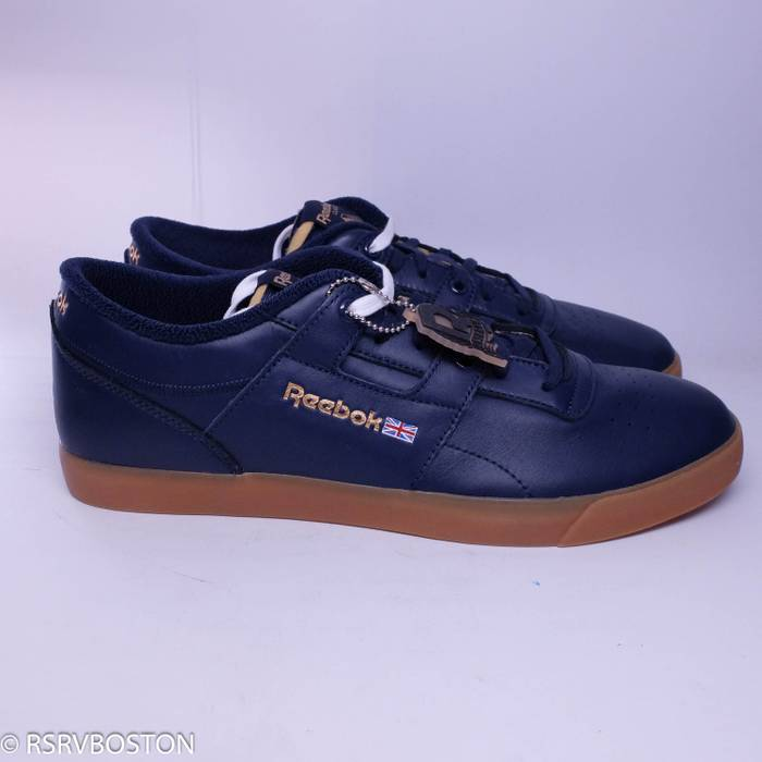 0aee5893798 Palace New Workout Low Clean FVS Collegiate Navy White Gum Size US 13   EU  46
