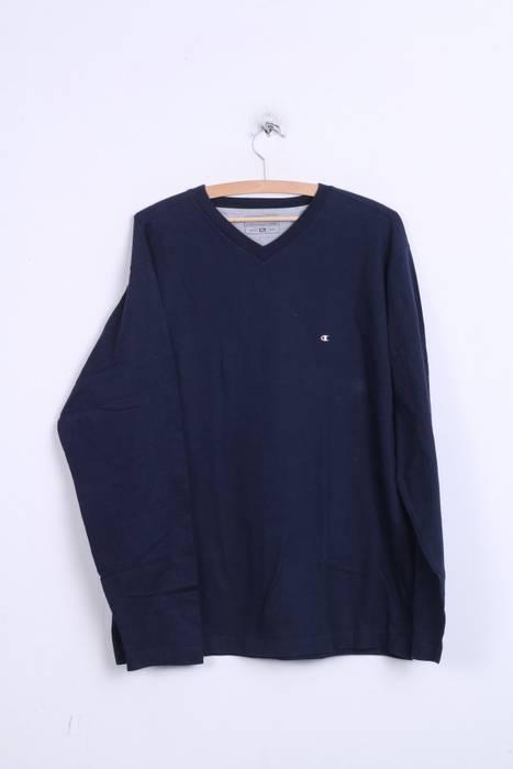 c969862fbb964 Champion. Champion Mens XL Shirt V Neck Navy Long Sleeve Cotton Top 0367