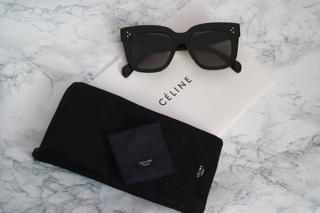 f6113147b16c4 Celine NEW Celine Kim Oversized Black Square Sunglasses Size ONE SIZE