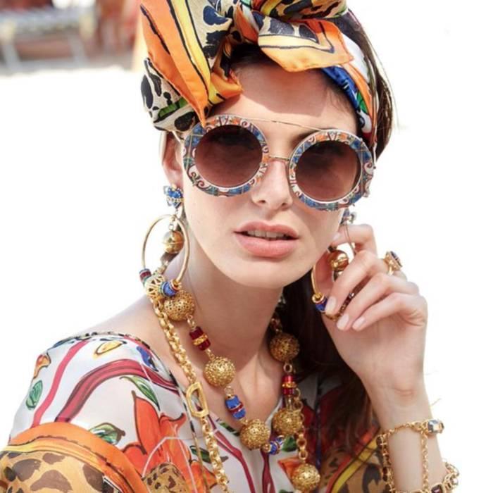 1eced1b9dfaa Dolce   Gabbana NEW Dolce Gabbana 2198 Clip On Round Sunglasses Size ...