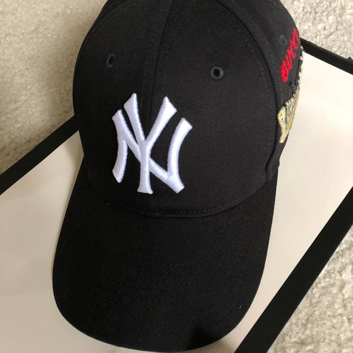 Gucci Gucci New York Yankees NY Baseball Cap   Hat Black Mint Sold Out Size  ONE 9b4f1640116