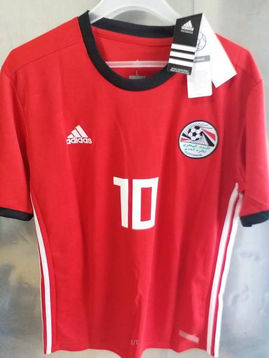 Soccer Jersey. Mens  10 Mohamed Salah Egypt Soccer Jersey Football Jersey  Home 2018 World Cup ... 0bd3d2eb0