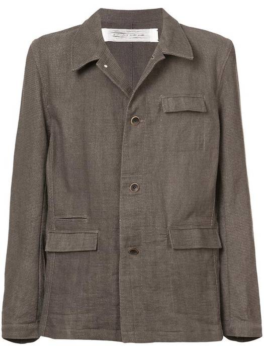Individual Sentiments Woven Button Down Jacket Size M Heavy Coats