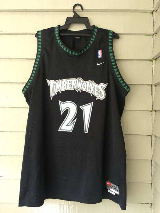 5bd33a999 sale nike vintage nike minnesota timberwolves nba jersey kevin garnett 21  size us xxl eu 58