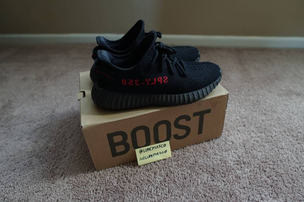 Adidas Kanye West. YEEZY BOOST 350 V2 BLACK RED BRED. Size  US 6 ... dea173e48
