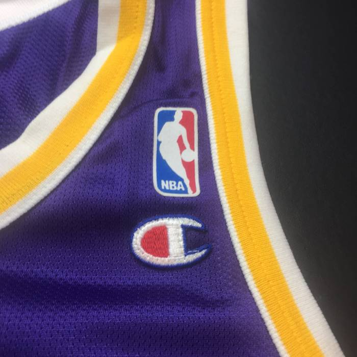 40849560f Champion Vintage Purple Los Angeles Lakers Nick Van Exel Mens Large Size 44  Champion Basketball Jersey