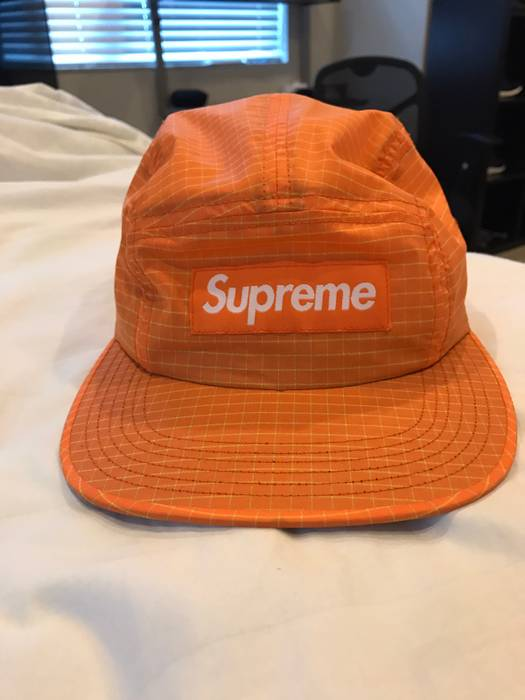 Supreme Orange Checkered Camp Cap Size one size - Hats for Sale ... 6337c81af99
