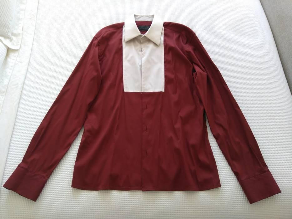 3b2819dd1069 Prada SS13 Runway Button-up Shirt (Bordeaux   White) Size m - Shirts ...