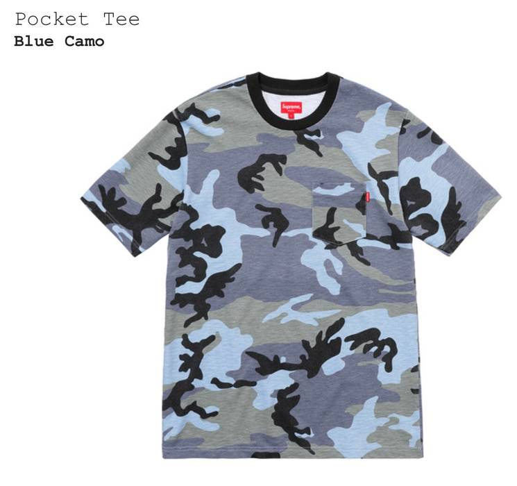 Supreme Blue Camo Tee Size l - Short Sleeve T-Shirts for Sale - Grailed 01fbf160f7b