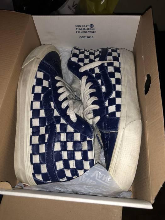 3e2460f66d Vans Vans Vault 50th Anniversary OG SK8-HI LX Blue Checkered Size 8 ...