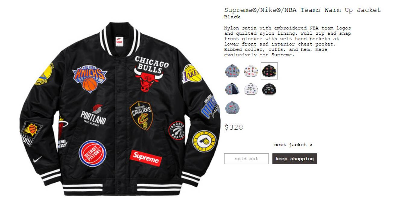 Supreme Nike NBA Warm-Up Jacket Black Size m - Light Jackets for ... d4ce8b0b2