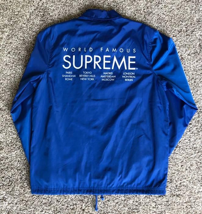 91082c2d9 Supreme Supreme SS15 International Coaches Jacket Royal Blue Size m ...
