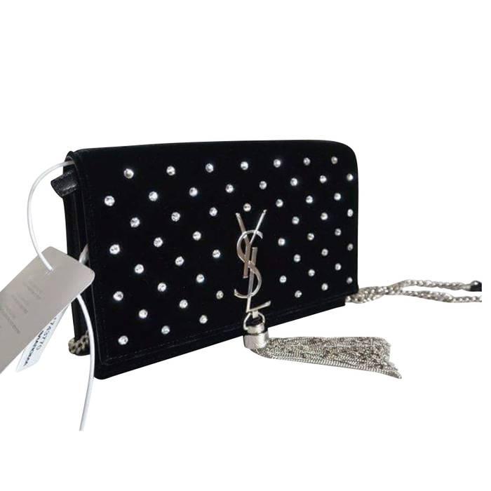 Yves Saint Laurent SAINT LAURENT Kate Diamond Chain And Tassel Bag ... fc7347e77505
