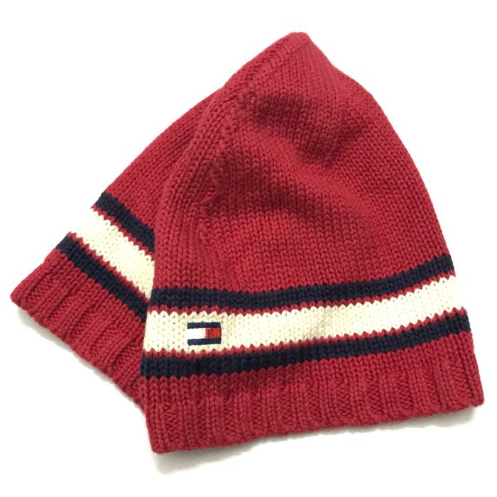 Tommy Hilfiger Red Beanie With White Stripe Size one size - Hats for ... 857530523d6