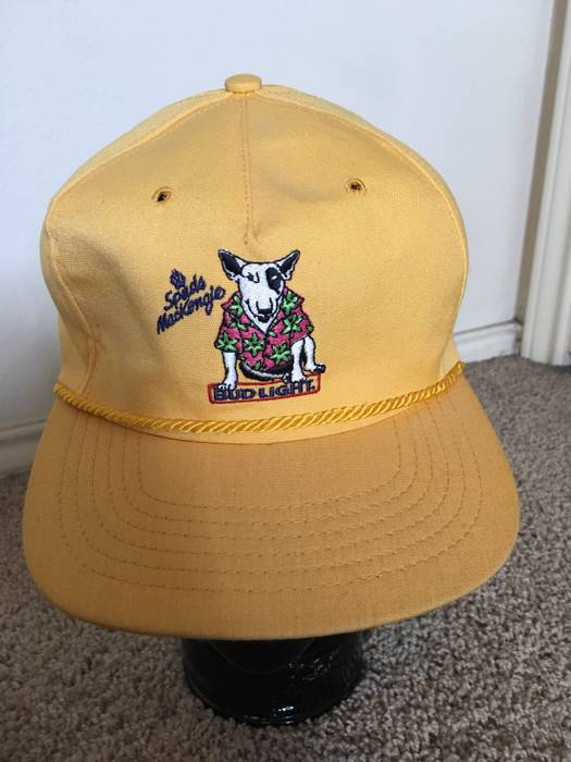 Vintage Bud Light vintage Spuds Mackenzie Yellow Dad Hat Size one ... e1974db3f7c5