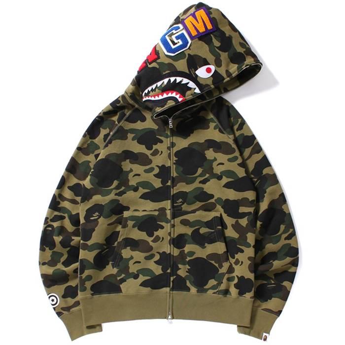 e23cf820af4b ... Bape A Bathing Ape Bape Long Wide 1st Camo Shark Pullover Hoodie 16FW Size  US M ...
