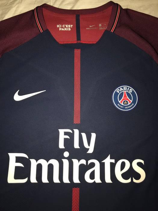 Nike Neymar Santos Paris Saint-Germain Nike 2017 18 Vapor Match Home Jersey  Authentic 5aec74d15
