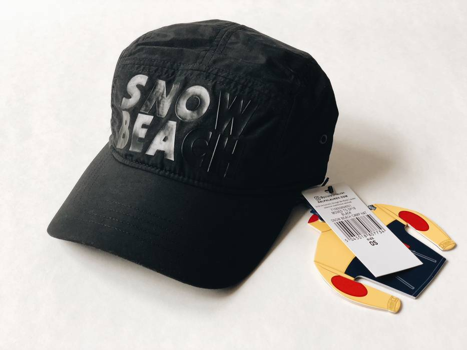 d086b8b8b5d Polo Ralph Lauren SNOW BEACH B W  SZ OS  CAMP CAP HAT NYLON MULTI ...