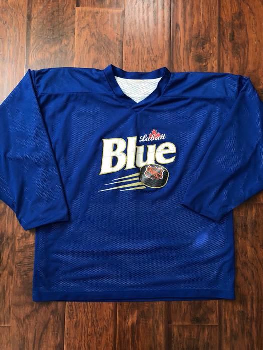 Vintage Labatt Blue Reversible Hockey Jersey Size xl - Long Sleeve T ... f59f381f073