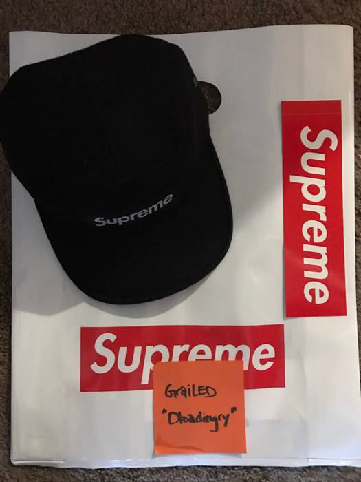56b733c49b6 Supreme Cavalry Twill Camp Cap Black Size one size - Hats for Sale ...