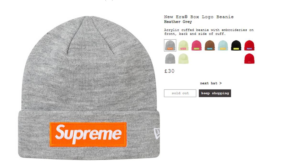 7c3b0709053bc Supreme X New Era Box Logo Beanie Size one size - Hats for Sale ...