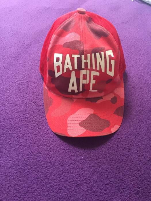 91868a6de7d Bape OG Bape Camo Trucker Hat Size one size - Hats for Sale - Grailed