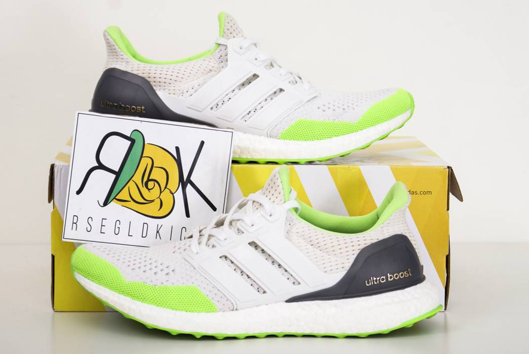 free shipping 1a683 9ba7f Adidas 2015 Kolor x Adidas Ultra Boost LTD 1.0 SOLAR GREEN WHITE Sz 8.5  S77419 Lime