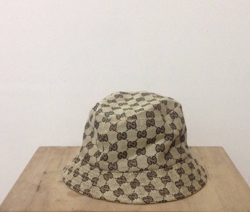 Gucci. Vintage Gucci Monogram Bucket Hat made in italy not louis vuitton  fendi chanel balenciaga ... 04f18c6cd02b