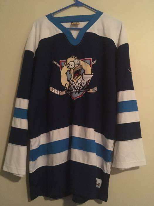 The Simpsons Simpsons Springfield Hockey Jersey Size xl - Long ... ce545fac49f