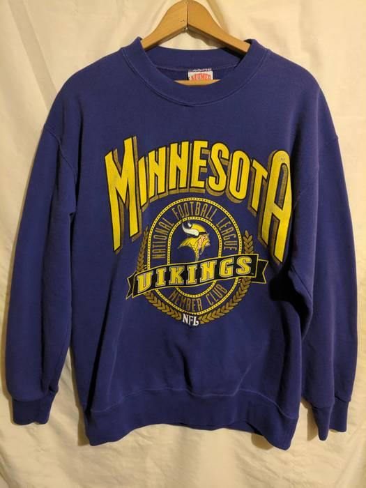 aedc00fc5 Nfl NFL Minnesota Vikings Vintage Members Club Crewneck Size l ...