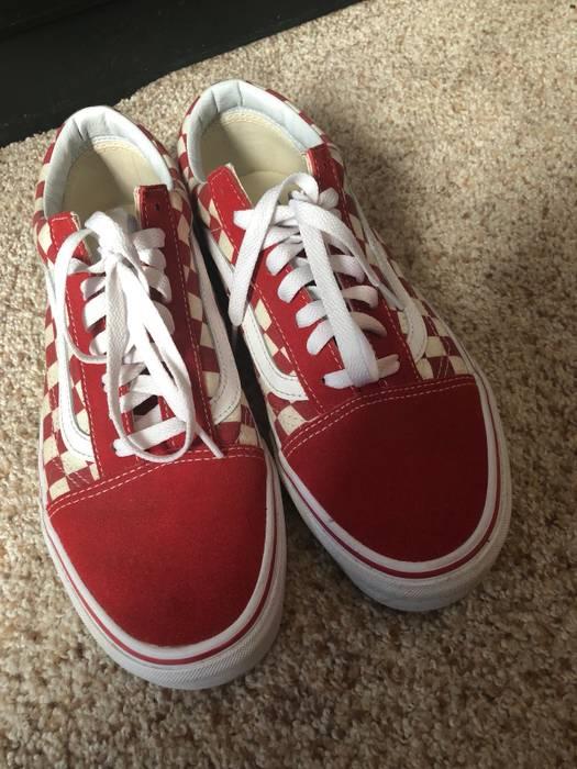 Vans Red Checkered Old Skool Vans Size 95 Low Top Sneakers For